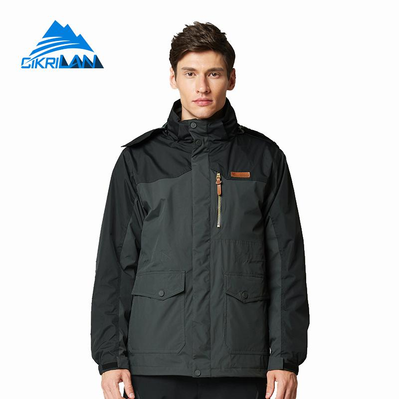 3in1 Mens Waterproof Winter Trekking Outdoor Snowboard Jacket Men Hiking Camping Ski Coat Climbing Windstopper Jaqueta Masculina