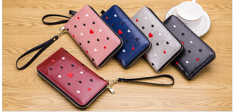 Women genuine leather wallet 13