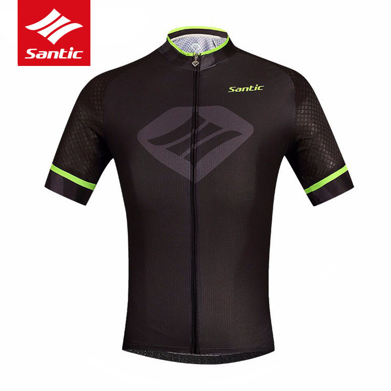 Santic Cycling Jersey Mens Pro Team Summer MTB Road Bike Jersey Breathable Quick-dry Bicycle Jeresy Cycle Clothing Ropa Ciclismo polyester summer breathable cycling jerseys pro team italia short sleeve bike clothing mtb ropa ciclismo bicycle maillot gel pad