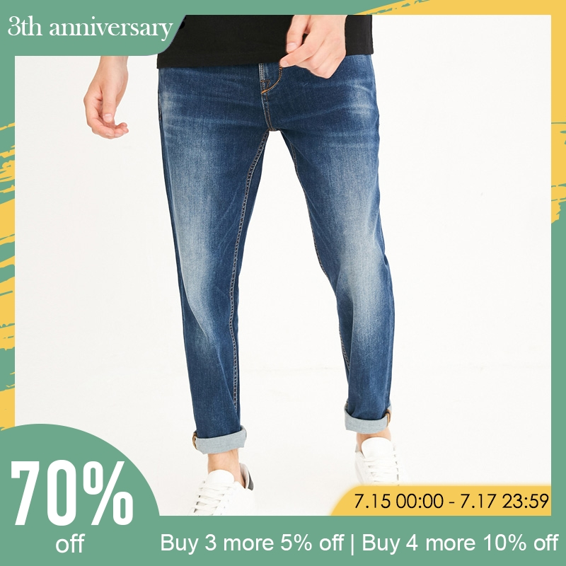 Jack Jones 2019 spring summer men   jeans   slim fit blue   jeans   denim jogger   jeans   | 218232516