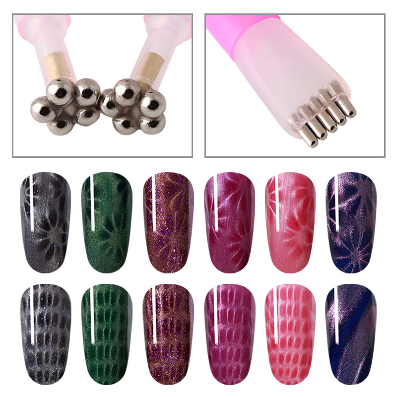 MIZHSE 3D Cat Eye Nail UV Gel Polish Thick Magnet Stick Tools For Cat Eyes Effect Strong Magnet Board Painting Gel Nail Polish in Sets Kits from Beauty Health