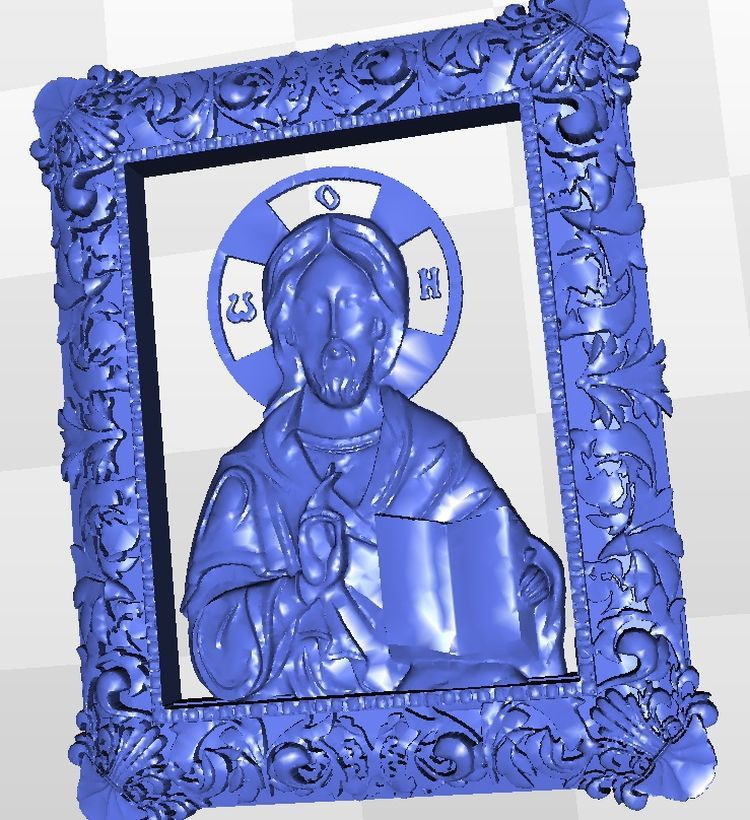 Icona_Iisus_Hristos relief for cnc in STL file format 3d martyrs faith hope and love and their mother sophia 3d model relief figure stl format religion for cnc in stl file format