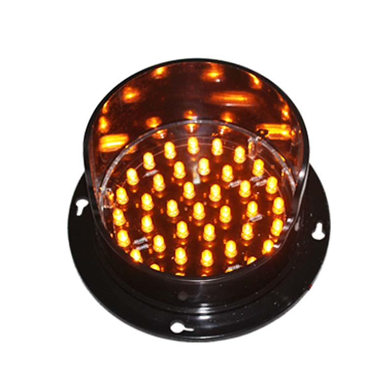 DC12V  Customized Mould 100mm Yellow Signal Lamp LED Arrow Boards Parts Traffic Light Replacement