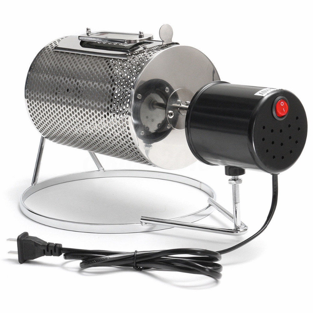 220V Stainless Steel Coffee Bean Roasting Machine Home Coffee Roaster Roller Baker mini coffee bean roasting machine coffee roaster