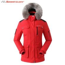Women's Windbreaker Down Jackets Ladies Winter Hooded Thermal Hiking Jackets Outdoor Windproof Waterproof Coat SG SUMMIT GLORY