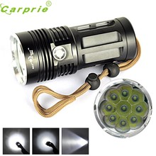 Super High power 10000 LM 9T6 9x CREE XM-L T6 LED Flashlight Torch Lamp 3 Modes 18650 170125(China)