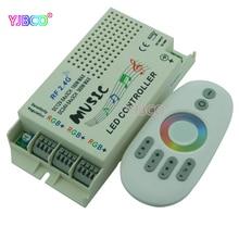 2.4G music RGB controller DC 12V-24V&Wireless Remote For 5050 3528 3014 RGB Led Strip light Led Control Music Conductor комплектующие для осветительных приборов pole hi light 3528 led 5050 220v 3014