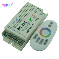 2 4G Music RGB Controller DC 12V 24V Wireless Remote For 5050 3528 3014 RGB