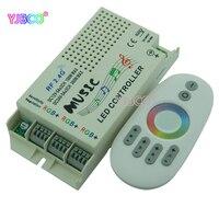 2 4G Music RGB Controller DC 12V 24V Wireless Remote For 5050 3528 3014 RGB