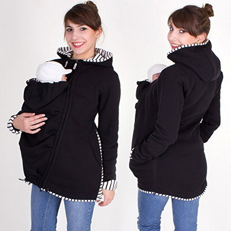 Maternity Hoodies Hooded Coat Winter Autumn Kangaroo Carrier For Maternity Pregnant Clothes Baby Carrier Jacket S-2XL autumn winter hooded maternity hoodies coat kangaroo baby carrier jacket for pregnant women clothes pregnancy sweatshirts