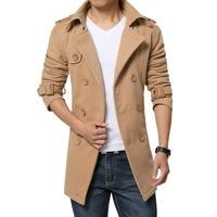 M 5XL 2015 Brand Peacoat Winter Mens Jackets And Coats Mens Double Breasted Stylish Pea Coats