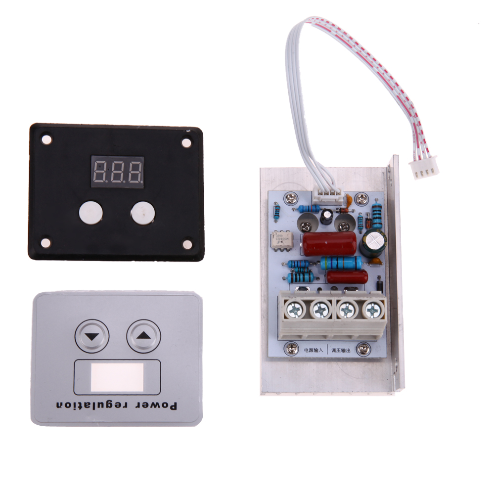 AC 220V 10KW SCR Super Power Electronic Digital Regulator Dimmer Speed Thermostat Digital Light Speed Temperature Controller new 10000w import scr super power electronic digital regulator dimmer speed thermostat
