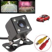 Universal Waterproof Rear View Camera Wide Angle Car Back Reverse Camera CCD 4 LED Light Night