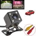 Универсальный Водонепроницаемый заднего вида Камера Широкий формат автомобиль обратно обратная Камера CCD 4 светодио дный свет Ночное видение Парковочные системы Камера - фото