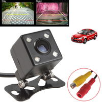 Universal Waterproof Rear View Camera Wide Angle Car Back Reverse Camera CCD 4 LED Light Night