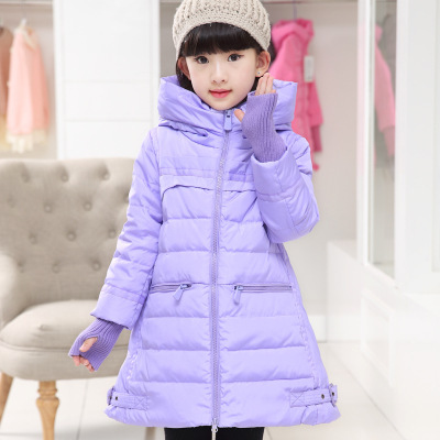 Girl's winter jacket down Jackets Coats 2015 NEW warm Kids baby thick duck Down jacket Children Outerwears cold winter-30degree new winter girls boys down jackets baby kids long sections down coats thick duck down warm jacket children outerwears 30degree
