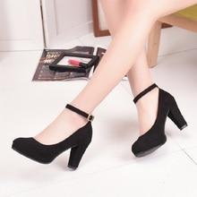 Cresfimix sapatos femininos women cute suede high heel pumps women casual buckle strap sexy high heel shoes lady cute high heels