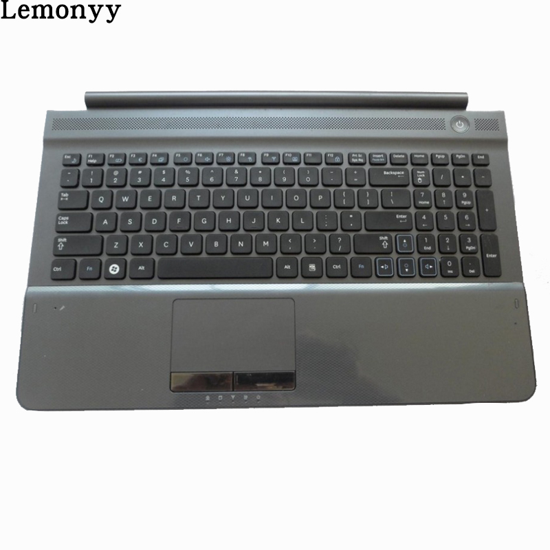 New US Keyboard for SAMSUNG RC512 RC510 RC520 US laptop keyboard With Gray Palmrest COVER genuine new palmrest cover upper case with touchpad us korean keyboard gray for samsung laptop np530u4b np530u4c np535u4c