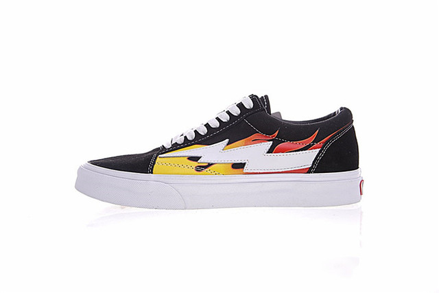 62bd7f1d868a6f 2018 new Vans Old Skool Lace-up Revenge xStorm Flame Skateboarding Shoes  Men Women Sneakers Original Canvas Sneakers