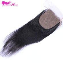 Мечтая Queen Hair Шёлковые подкладки бразильский Прямо Человеческие волосы Волосы Remy отбеленные узлы Накладные волосы с ребенком волос свободной части