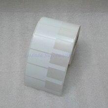 شبكة الكابل التسمية ملصقا 70*24 ملليمتر 1000 أجزاء مواد PET الأبيض اللون ع شكل للماء المسيل للدموع مقاومة