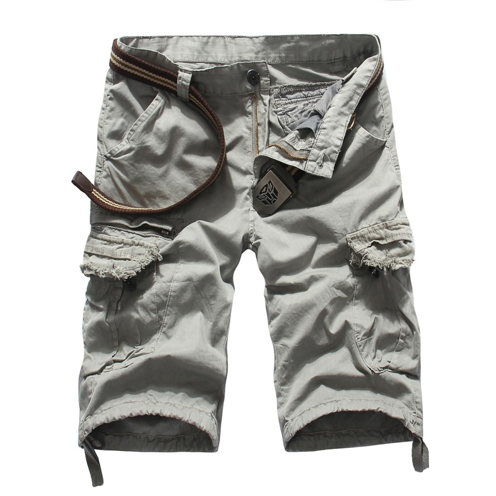 Tooling Shorts Mens Summer Cotton Cargo Shorts Multi-pocket Short Pants New Fashion Male Solid Casual Tooling Shorts