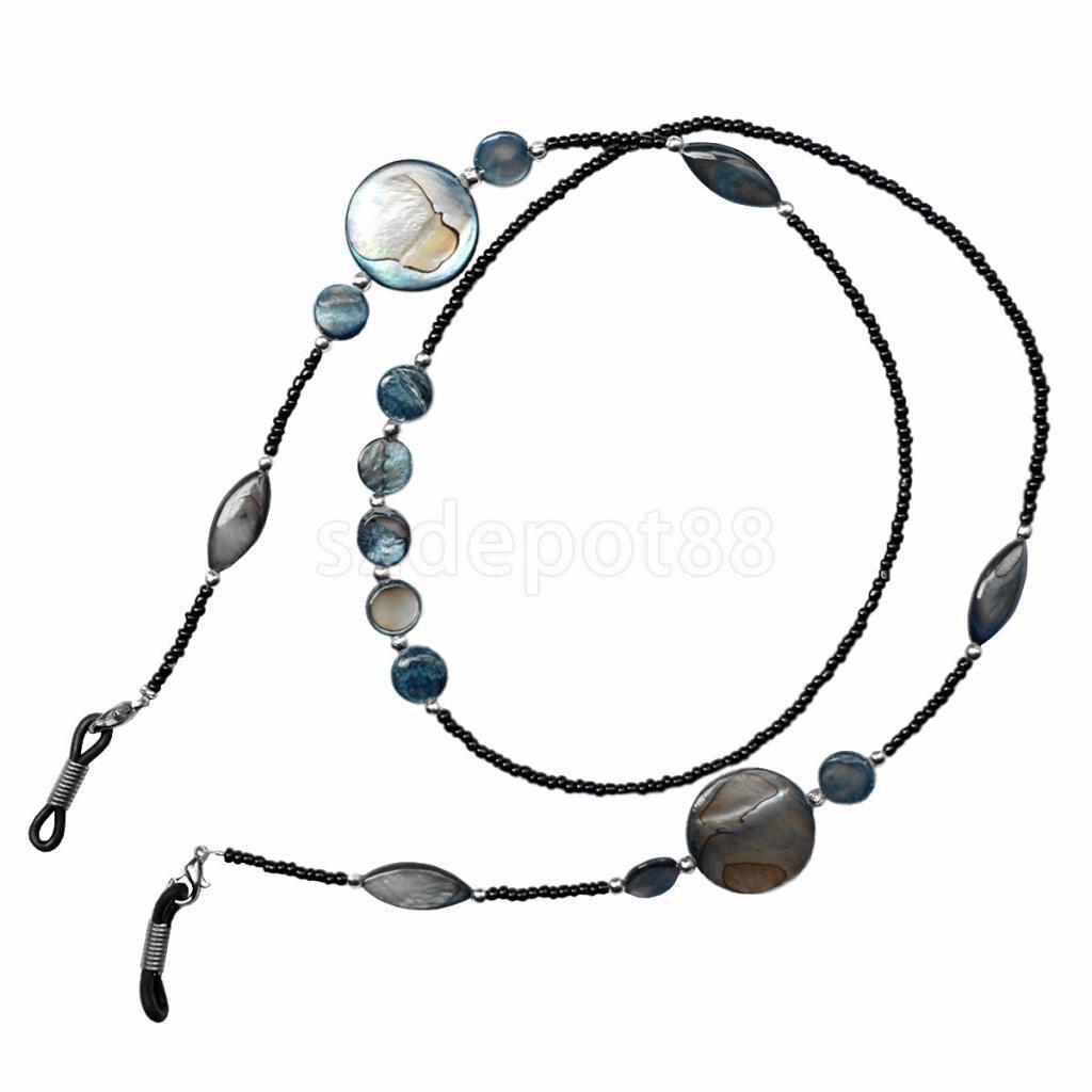 Fashion Shell Glass Beaded Eyeglass Chain Sunglasses