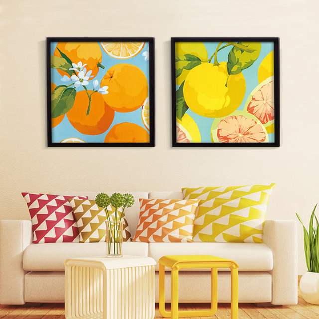 High Quality Fruit Theme Canvas Painting Modern Flower Art Living Room Wall Pictures For Bedroom Poster