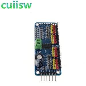 Image 3 - 16 kanal 12 bit PWM/Servo Driver I2C arayüzü PCA9685 modülü arduino veya ahududu pi kalkan modülü servo kalkan