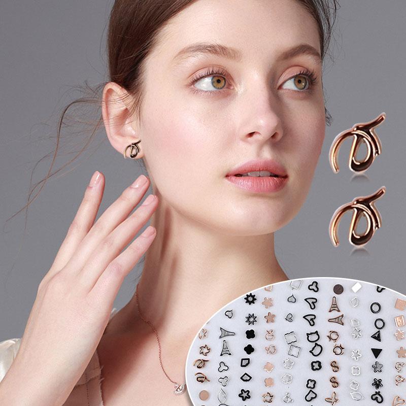 Серьги-гвоздики в форме костюм модные Винтаж в виде геометрических фигур 100 пар/компл. с украшением в виде кристаллов для ушей