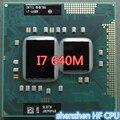 Intel core i7 640 m i7-640m dual core 2.8 ghz/l3/4 m/2800 mhz/processador cpu bga1288 funciona em hm55 trabalho (100% frete grátis)