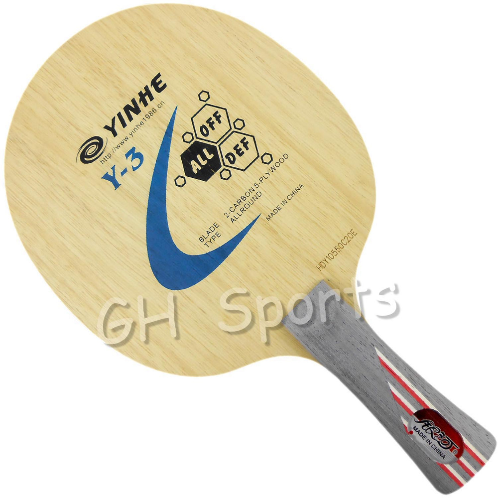 Galaxy Milky Way Yinhe Y-3 Y 3 Y3 5 Wood + 2 Carbon Allround Table Tennis Blade For PingPong Racket