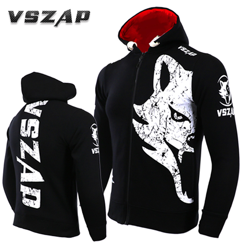 VSZAP Warm Winter Hoodie Tracksuits Fight MMA Gym Tee Shirt Boxing Fitness Sport Men