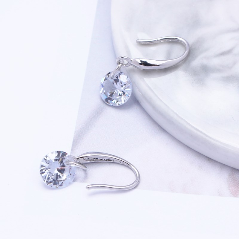 New Fashion Temperament Ear Hook Tiny Zircon Crystal Stud Earrings For Women Wedding Jewelry Boucle Mujer Brincos Summer