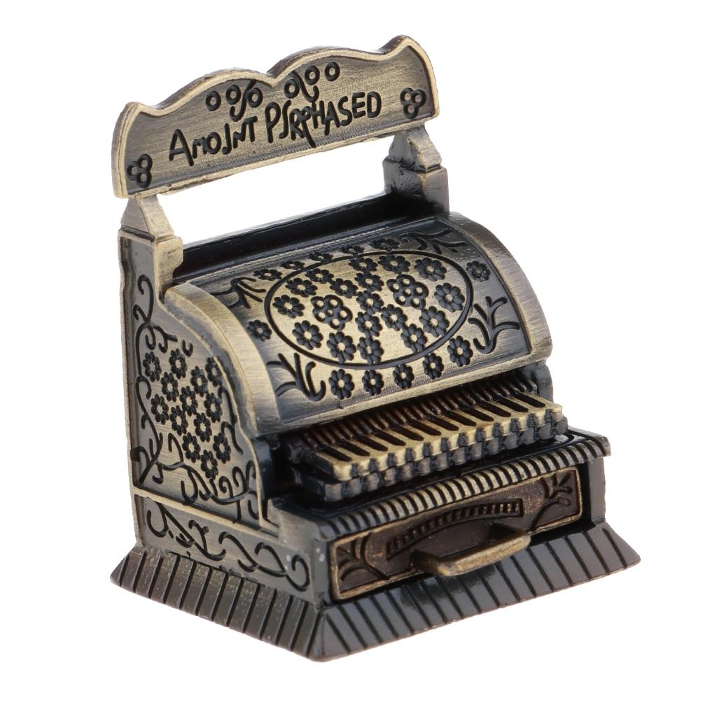 Vintage Cash Register Model 1/12 Dollhouse Miniatures Accessories Kids Toy