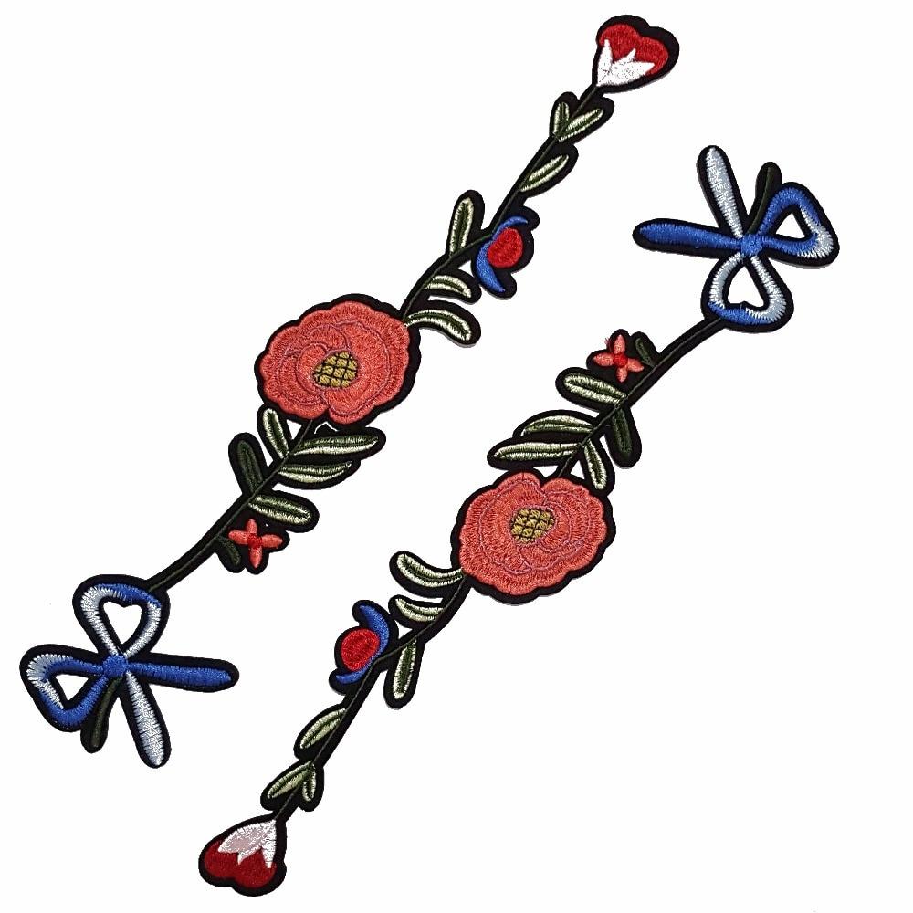 1db hímzett applikáció többszínű csokornyakkendő virág - Művészet, kézművesség és varrás - Fénykép 1