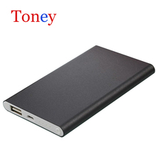 Aluminium Shell Real Capacity Safe Slim Card Power Bank 8000mAh Polymer Battery 606090 With Charging Cable For Phone