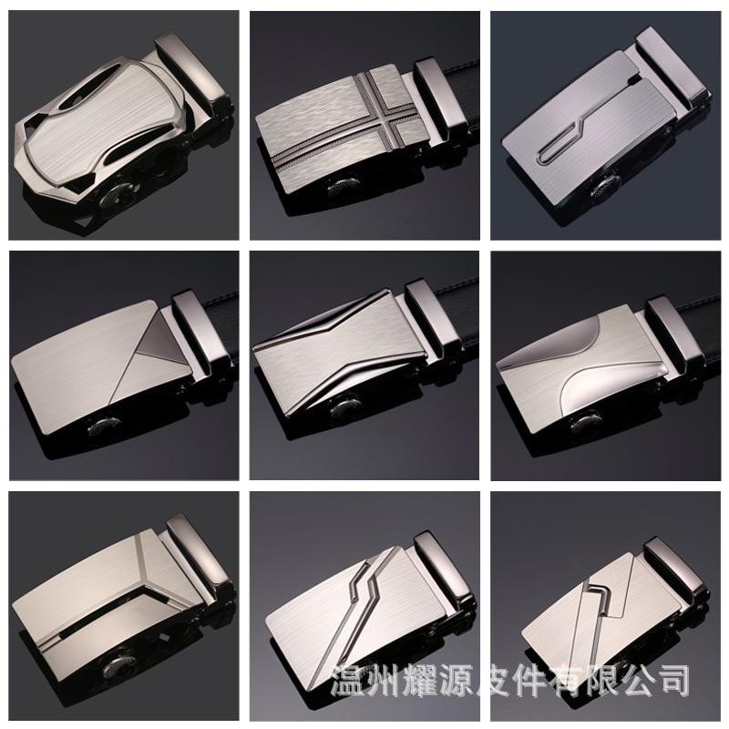 Brand Men's Fashion Designer Men   Belt   Buckle Male Metal Automatic Buckle Heads Good Quality Gold Silver Ceinture Homme