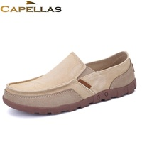 CAPELLAS Spring Summer Breathable Fashion Men Canvas Shoes Men S Flat Shoes Mens Casual Big Size
