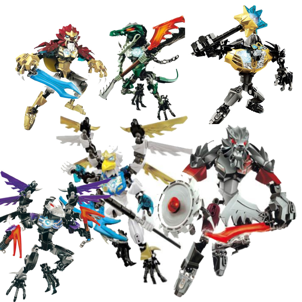 Qigong Legendary Animal Editon Chimaed Super Hero Figure Building Block Brick For Children Gift Kid Toy Compatible With Sermoido in Blocks from Toys Hobbies