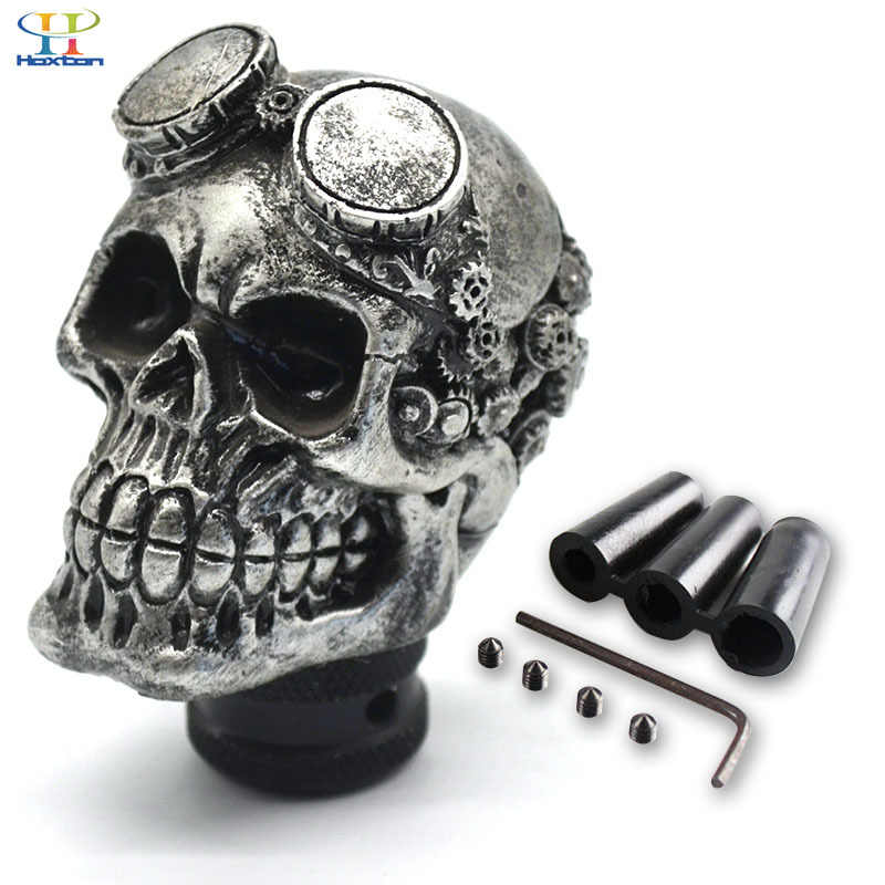 Universal Gear Shift Knob Car Skull Head Modification Shift Knob Gear Stick Car personality Gear Knob Modified With Glasses