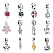 High Quality Silver Charms Fashion Pendant European Charm Fit Snake Chain Bracelet Bangle DIY Original Jewelry Making