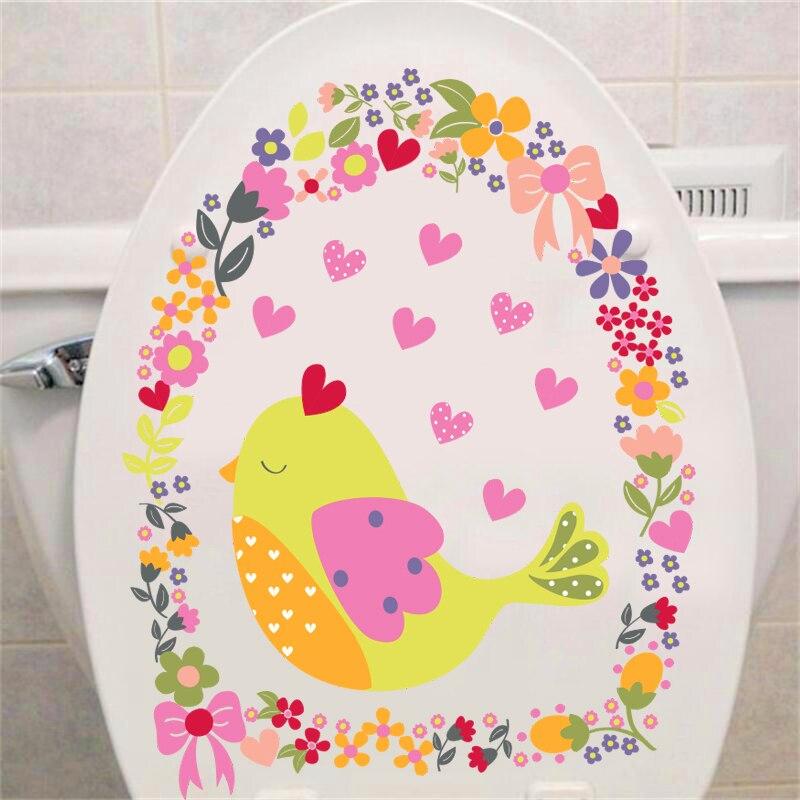 barevný pták květ srdce nástěnné samolepky na okno záchod svatební výzdoba karikatura zvířecí obtisky umění kutilství nástěnné malby pvc plakáty