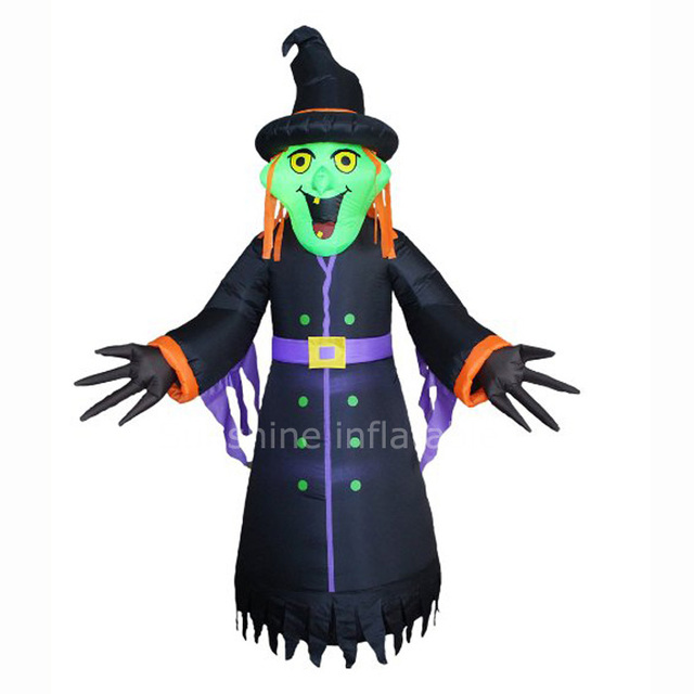 2016 hot sale 3m giant inflatable witch for halloween decoration
