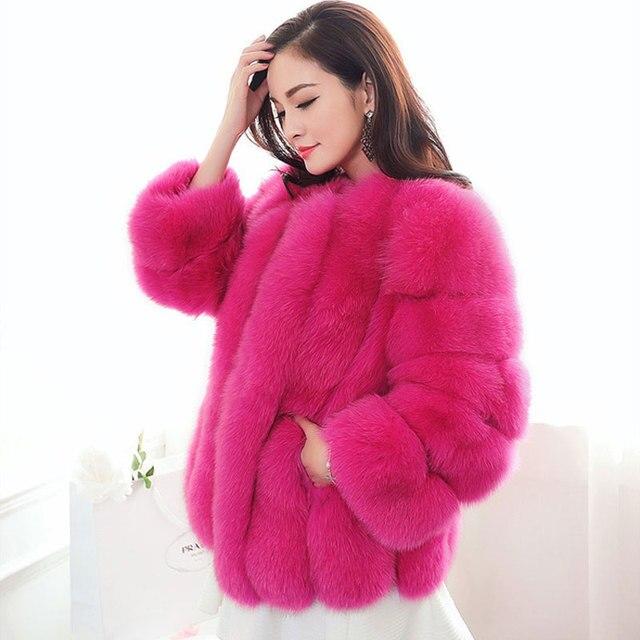 New Design 2016 Fashion Winter Women Faux Fur Coat Woman Jacket ...