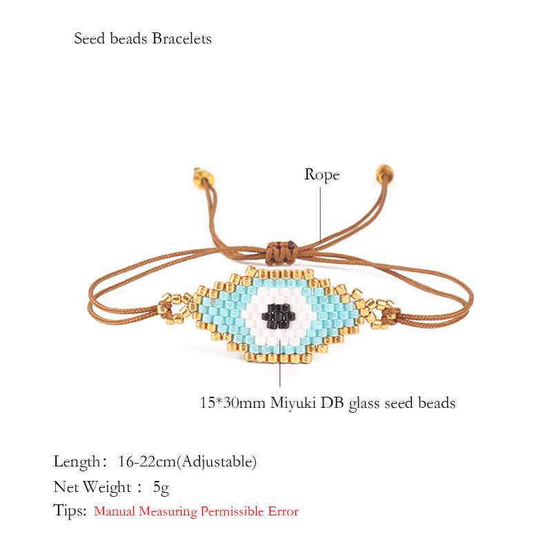 Shinus MIYUKI Vòng Tay Nữ Thổ Nhĩ Kỳ Ác Mắt Vòng Tay Trang Sức Pulseras Mujer Moda 2020 May Mắn Ác Mắt Mexico Jewellry Tặng