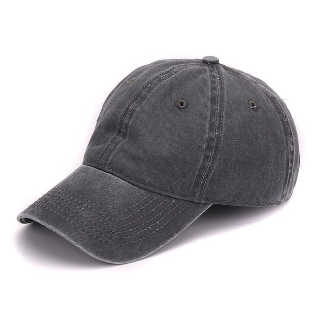Plain Dyed Washed Cap