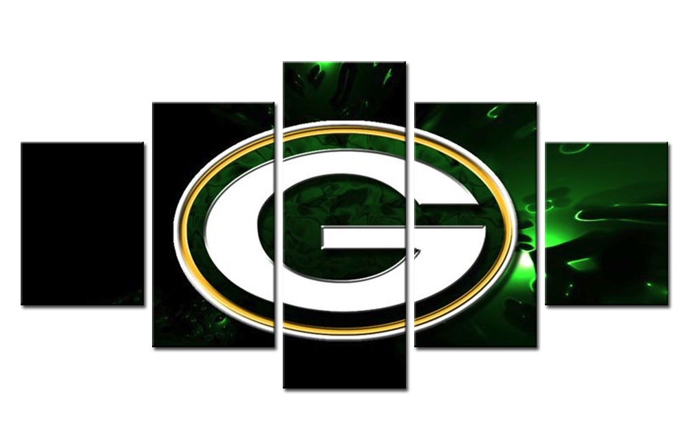 Green Bay Packers Wall Art 5 pieces green bay packers wall art picture modern home decoration