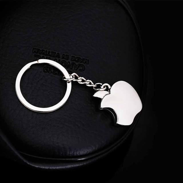IPARAM New arrival Novelty Souvenir Metal Apple Key Chain Creative Gifts Apple Keychain Key Ring Trinket car key Ring
