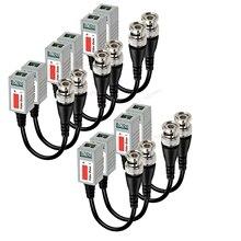Yeni 10 Pcs (5 pairs) güvenlik kamerası Pasif Video Balun BNC Konnektör Koaksiyel Kablo Adaptörü